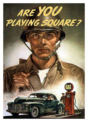 Political Mixed Media - Are You Playing Square - Ww2 by War Is Hell Store