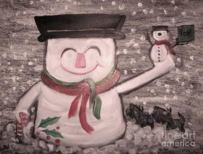 Are You Santa Art Print by Rachel Carmichael