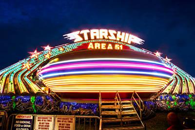 Photograph - Area 51 Gravitron by Mark Andrew Thomas