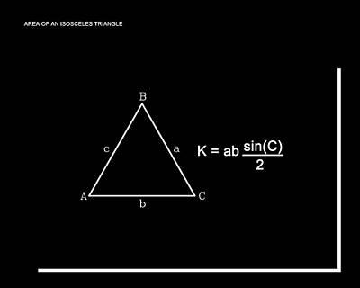 Digital Art - Area Of An Isosceles Triangle B/w by Paulette B Wright