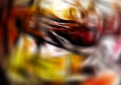 Abstract Digital Color Colorful Expressionism Impressionism Painting - Area X by Steve K