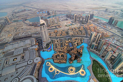 Areal View Over Dubai Art Print by Lars Ruecker