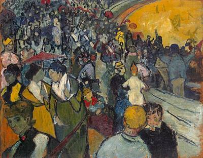 St. Vincent Painting - Arena At Arles by Vincent van Gogh