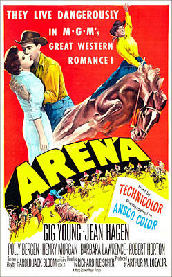 Arena, Us Poster, From Left Jean Hagen Art Print by Everett