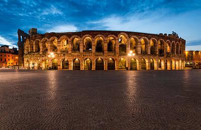 Arena Verona Amphitheatre In Italy Art Print