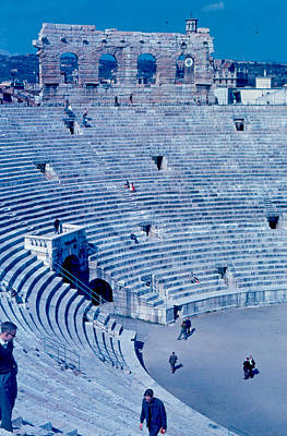 Arena Verona Interior 1962 Art Print by Cumberland Warden