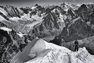 Alps Photograph - Arete by Mihai Ian Nedelcu