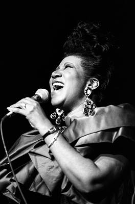 Photograph - Aretha Franklin In Concert by Al Pereira