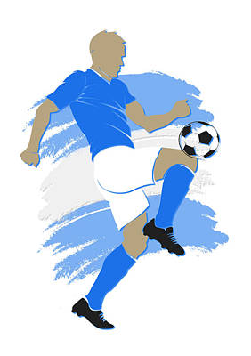 Argentina Soccer Player Art Print by Joe Hamilton