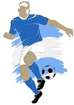 Argentina Soccer Player4 Art Print by Joe Hamilton