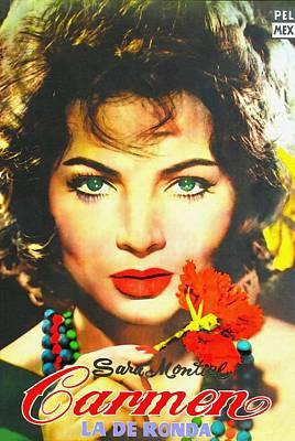 Long Necklace Mixed Media - Argentinian Poster Of Carmen La De Ronda by Art Cinema Gallery