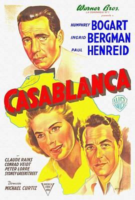 Claude Mixed Media - Argentinian Poster Of Casablanca by Art Cinema Gallery