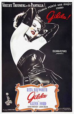 Noir Mixed Media - Argentinian Poster Of Gilda by Art Cinema Gallery