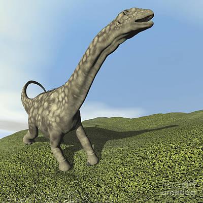 Valentines Day - Argentinosaurus Dinosaur by Elena Duvernay