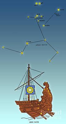 Argo Navis Constellation Art Print by Science Source