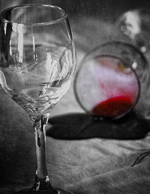 Table Wine Photograph - Arguments That Spill by Empty Wall
