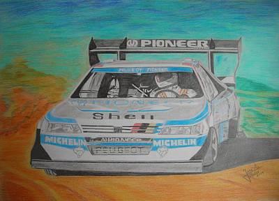 Ari Vatanen Art Print by Jose Mendez