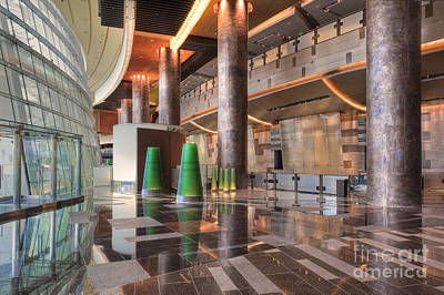 Photograph - Aria Hotel City Center Three-story Atrium Bathed In Natural Light by David Zanzinger