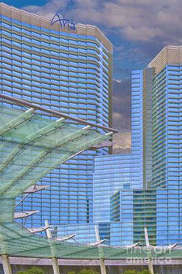 Photograph - Aria Las Vegas Nevada Hotel And Casino  by David Zanzinger