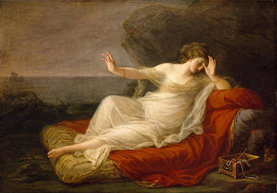 Theseus Painting - Ariadne Abandoned By Theseus by Angelica Kauffmann