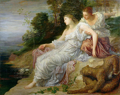 Ariadne In Naxos, 1875 Oil On Canvas Print by George Frederick Watts