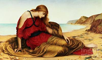 Crete Painting - Ariadne In Naxos by Evelyn De Morgan