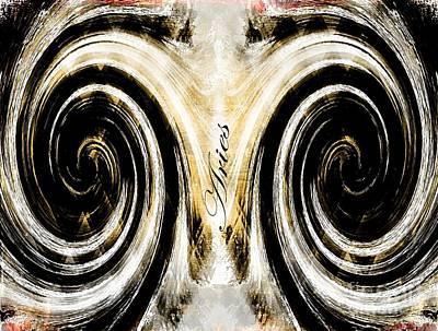 Signs Of The Zodiac Digital Art - Aries by Barbara Chichester