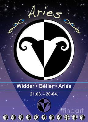 Signs Of The Zodiac Digital Art - Aries by Fabian Roessler