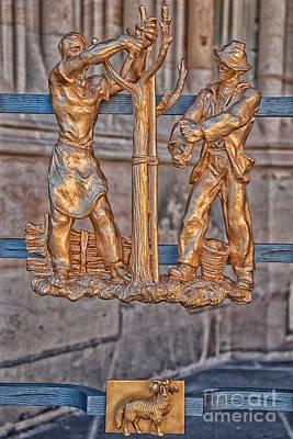 Prague Photograph - Aries Zodiac Sign - St Vitus Cathedral - Prague by Ian Monk