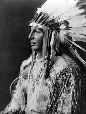 Wall Art - Photograph - Arikara Indian Man Circa 1908 by Aged Pixel