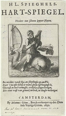 Arion On The Dolphin, Pieter Nolpe Art Print by Quint Lox