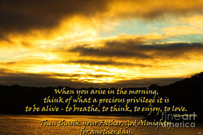 Photograph - Arise In The Morning by Sandra Clark