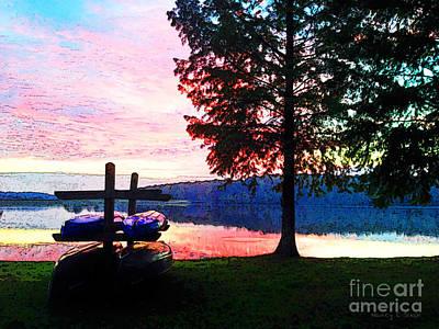 Canoe Digital Art - Arise by Nancy E Stein