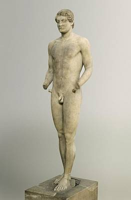 Statue Portrait Photograph - Aristodikos. Ca.  510 - 500 Bc by Everett