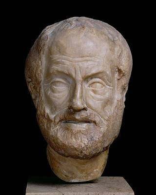 Balding Photograph - Aristotle  by Lysippos