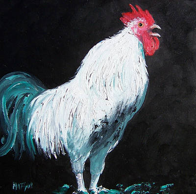 Farm House Painting - Aristotle The Rooster by Jan Matson