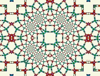 Sold Tapestry - Textile - Arithmetical Lace  by Tatjana Popovska