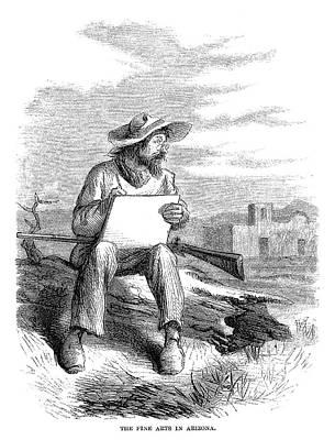 Arizona Artist, 1864 Art Print