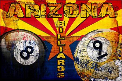 Arizona Billiards Art Print by David G Paul