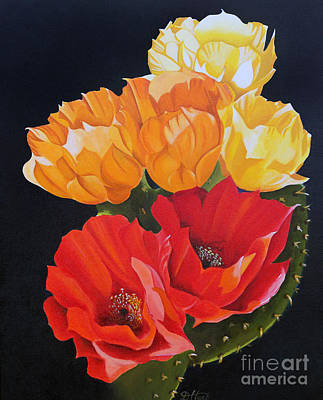 Painting - Arizona Blossoms - Prickly Pear by Debbie Hart
