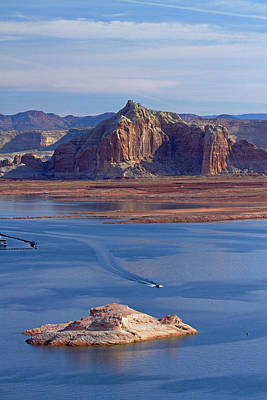 Wahweap Photograph - Arizona, Boats On Lake Powell by David Wall