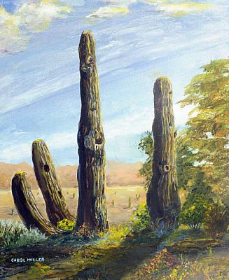 Painting - Arizona Cactus by Carol L Miller