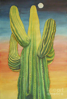 Arizona Cactus Original by Robyn Saunders