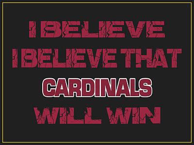 I Phone Covers Photograph - Arizona Cardinals I Believe by Joe Hamilton