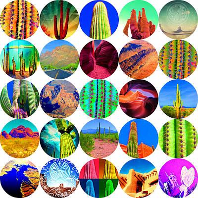 Mixed Media - Arizona Collage by Michelle Dallocchio