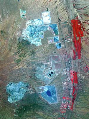 Satellite Image Photograph - Arizona Copper Mine by Nasa/gsfc/meti/ersdac/jaros, And U.s./japan Aster Science Team