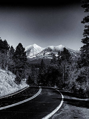 Photograph - Arizona Country Road In Black And White by Joshua House