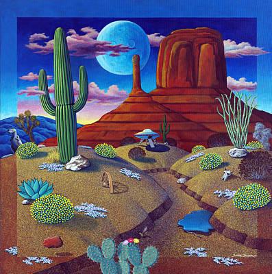 Snake Painting - Arizona Daze by Snake Jagger