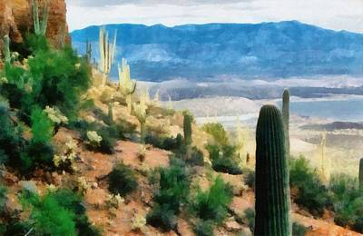 Soil Digital Art - Arizona Desert Heights by Michelle Calkins