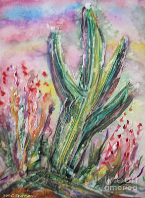 Mixed Media - Arizona Desert by M C Sturman
